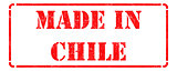Made in Chile - Red Rubber Stamp.