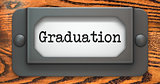 Graduation - Concept on Label Holder.
