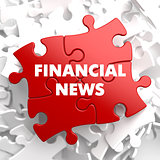 Financial News on Red Puzzle.