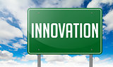Innovation - on Green Highway Signpost.
