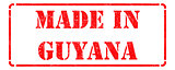 Made in Guyana on Red Rubber Stamp.
