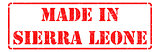 Made in Sierra Leone on Red Rubber Stamp.