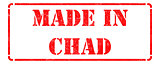 Made in Chad on Red Rubber Stamp.