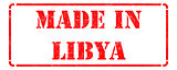 Made in Libya on Red Rubber Stamp.
