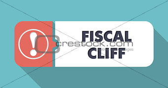 Fiscal Cliff Concept in Flat Design.