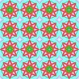 Seamless geometric patternwith a stars
