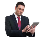 Businessman with digital tablet computer