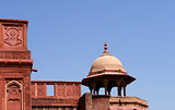 Outside Architecture of the Red Fort