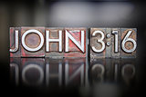 John 3:16 Letterpress