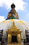 Swayambhunath stupa temple on the outskirts of Kathmandu