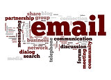 Email word cloud