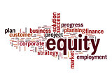 Equity word cloud