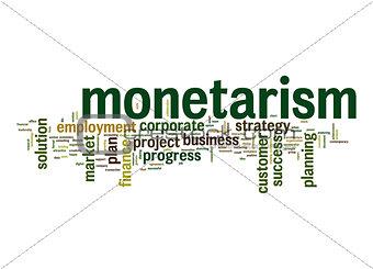 Monetarism word cloud