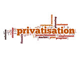 Privatisation word cloud