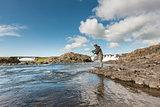 Flyfisherman casting