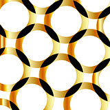 Background with golden circles