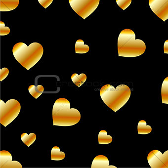 Background with metallic hearts