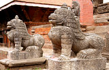 Durbar Square building - Hindu temples in the ancient city,