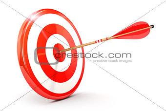 3d arrow on target