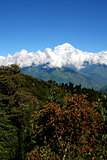 View of Annapurna mountain, trek to base camp conservation area
