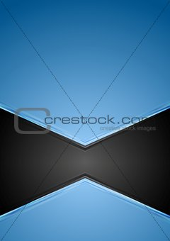 Abstract blue and black tech background