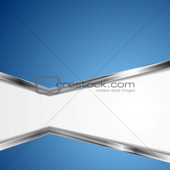 Abstract background with metallic silver stripes