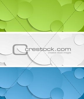 Bright circles vector banners