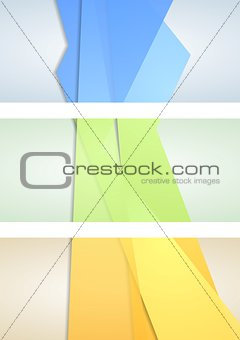 Abstract corporate banners