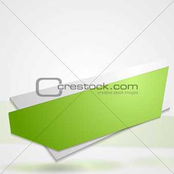 Abstract vibrant banner sticker