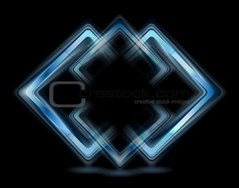 Abstract blue squares logo