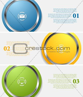 Abstract infographic tech banners