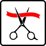 cutting scissors and red tape