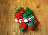 Christmas knitted socks for gifts traditional festive decoration