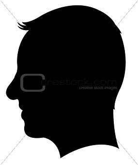 a man head silhouette