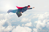 superhero businessman in flight