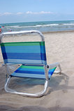 A beach chair on the beach
