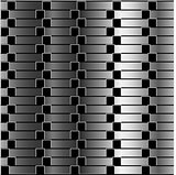 Optical illusion against silver