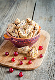 Biscotti with dried cranberries