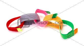 Chain from Colorful Velcro Strips