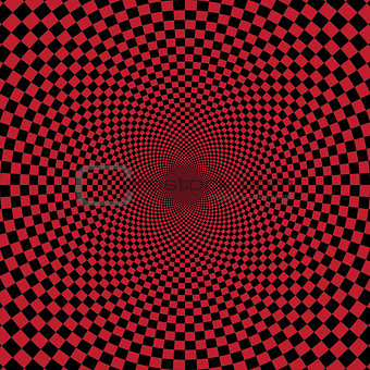 Abstract red checkerd background