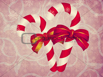 Candy canes vintage background