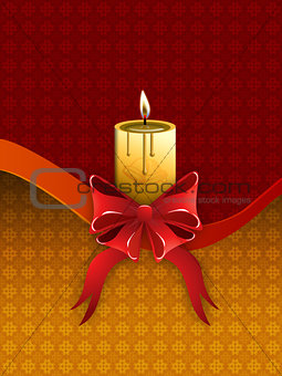 Card with holidays candle