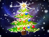 Cartoon Christmas tree background