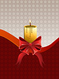 Christmas candle with bow