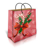 Christmas gift bag isolated