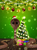 Christmas santa snake