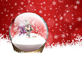 Christmas snow globe with fairy