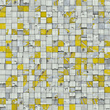 abstract tile mosaic backdrop in yellow white