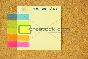 To do list sticker on the cork