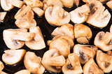 Quartered Roasted Champignons